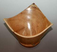 "Photo: Richard Webster - three-corner cherry bowl - 9.5"" x 8.5"""