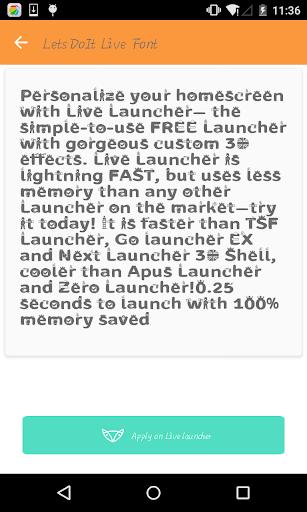 Fashion font 2- Live Launcher