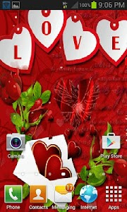 Red Heart Live Wallpaper screenshot 2