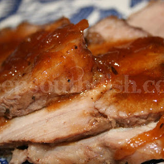 Roast Pork with Spicy Sweet Onion Pan Sauce