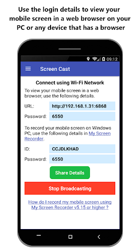 Screen Cast - View Mobile on PC screenshots 2