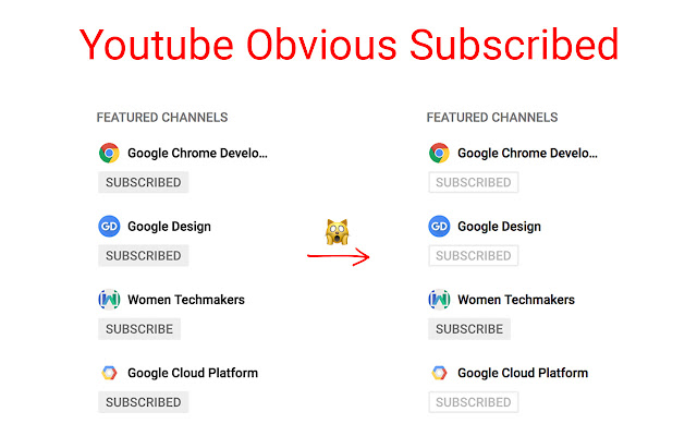 Youtube Obvious Subscribed