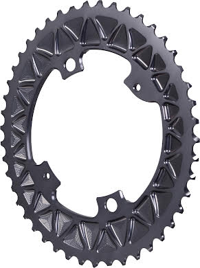 Absolute Black Premium Oval Subcompact Road Outer Chainring, 4x110BCD alternate image 0