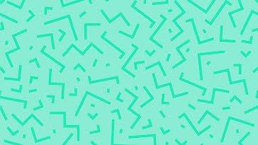 Green Angular Zigzag - Zoom Background Template