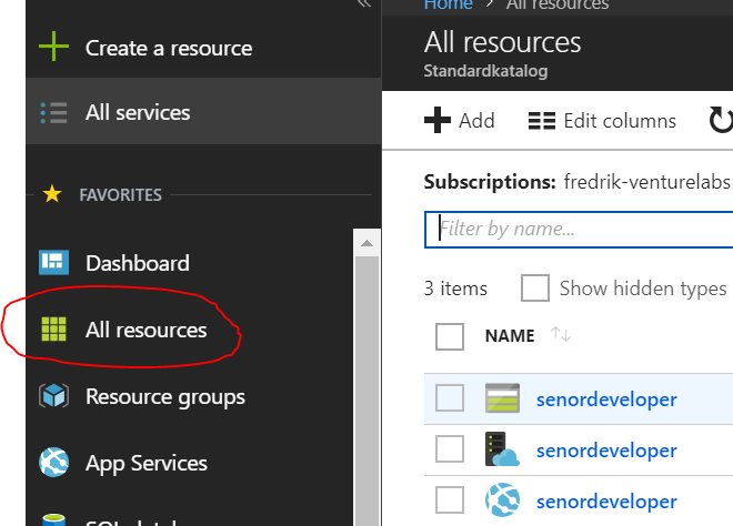 azure resources