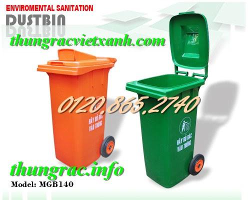 Thùng rác nhựa 120l nắp hở
