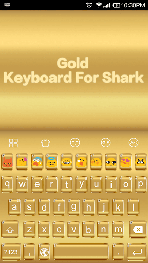 Gold -Love Emoji Keyboard