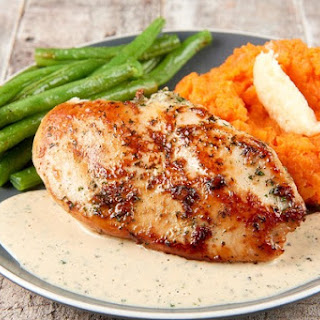 Buttermilk Ranch Chicken With Honey-Butter Mashed Carrots