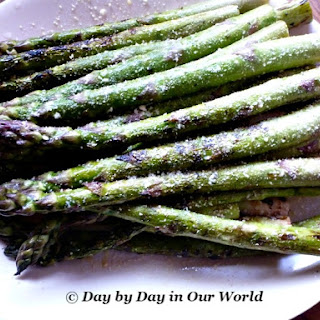 Grilled Asparagus with Parmesan.