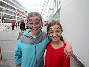 Photo: Back near the ship they had free face painting