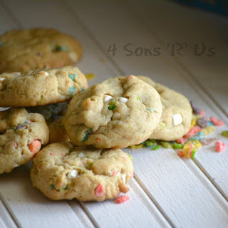 Marshmallow Fruity Pebble Crunch Brown Butter Cookies