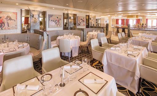 QM2-Verandah-Restaurant.jpg - The Verandah Restaurant on Queen Mary 2 offers passengers a prix fixe fine-dining experience.