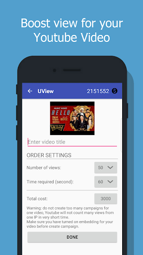 UView - View4View for YouTube video 2.5 screenshots 1