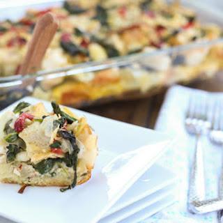 Spinach and Artichoke Strata