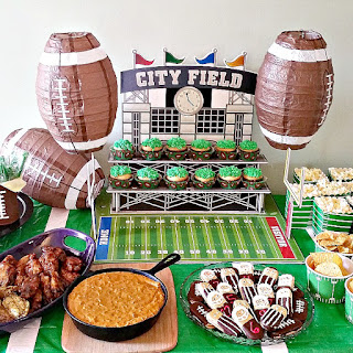 Football Party Ideas and Crockpot Lemon Pepper Wings.