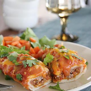 Cheddar Beef Enchiladas.
