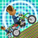 race pooches motocross bike icon