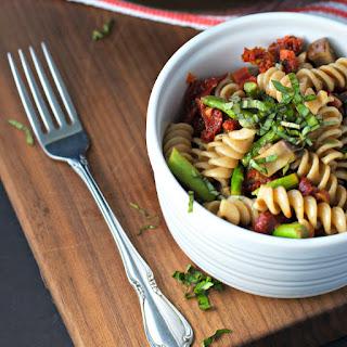 Sundried Tomato Pasta Salad With Asparagus And Portobello Mushrooms ~vegan~