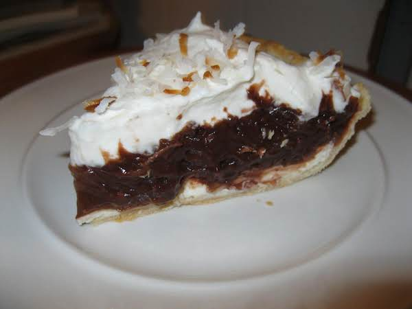 Chocolate Coconut Cheese Pie Recipe