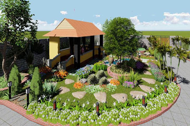 Một bản thiết kế sân vườn đẹp mắt