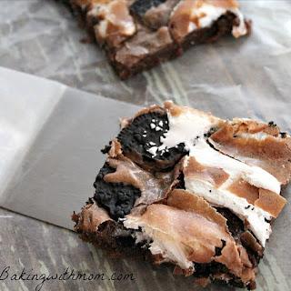 Marshmallow Oreo Brownies.