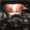 SUV Traffic Driving icon