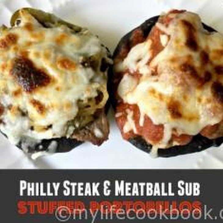 Philly Cheese Steak & Meatball Sub Portobellos Recipe