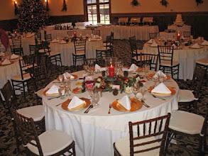 Photo: Christmas table setting .
