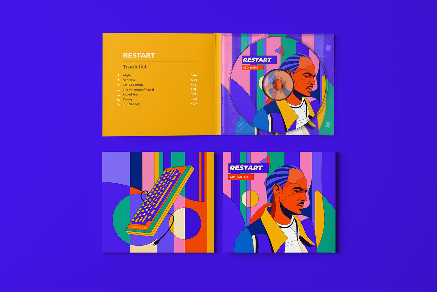 album cover brand ILLUSTRATION  melody music Music Packaging