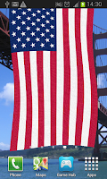 Screenshot of American Flag Live Wallpaper