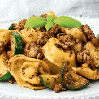 Tortellini with Zucchini and Tempeh Sausage
