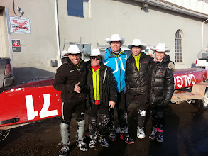 Photo: happy ice canoe race finishers. We place 15/27 boats and missed 9th spot by a minute!! Doh. Next year!!!