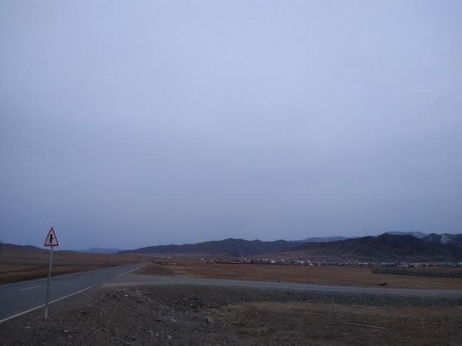 モンゴルの道路