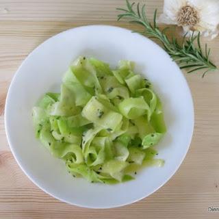 Zucchini Ribbons Sauteed in Garlic and Rosemary