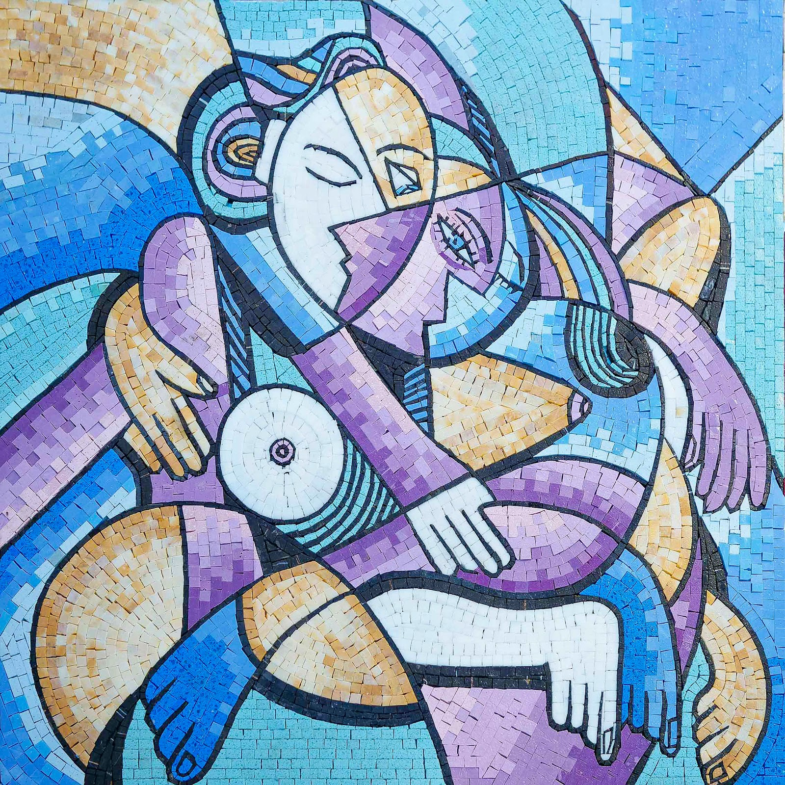 """Endless Love"" by Anthony Fablo - Abstract Mosaic Reproduction by Mozaico"