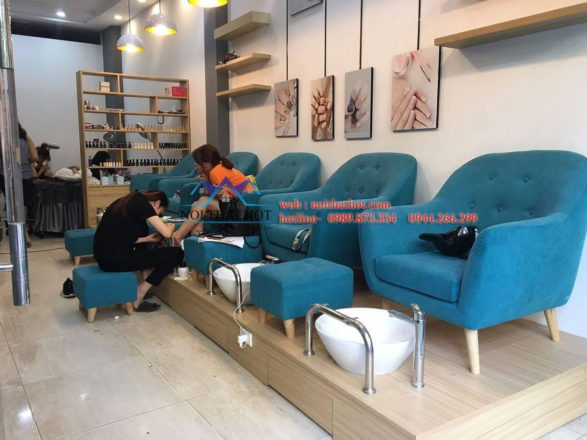 thiết kế thi công cửa hàng nail 2