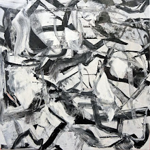 """Photo: Bowed Tendon (oil on canvas) 52x52"""" 2014 Sold"""