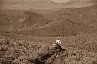 Photo: Riding below the Big Lost Mountains in Idaho.