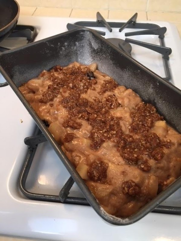 Smash up the bars and mix together with the brown sugar and melted butter....