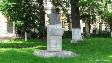 "Photo: Str. Dr. Ioan Ratiu, Nr.111 - Colegiul National ""Mihai Viteazul"" - Bustul lui Teodor Murasanu si ""Stejarul Unirii"" - (2013.06.14)"