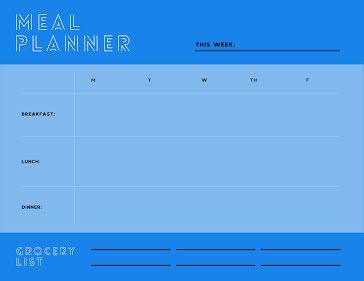 Meal Planner This Week - Weekly Planner template