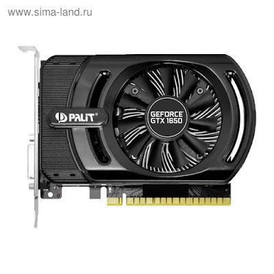 Видеокарта Palit nVidia GeForce GTX 1650, 4Гб, 128bit, GDDR5, DVI, HDMI, HDCP