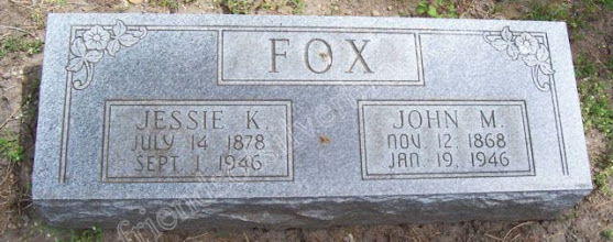 Photo: Fox, Jessie K. and John M.