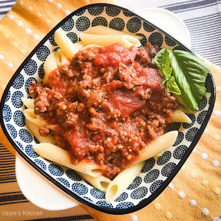 Easy Penne with Meat Sauce Recipe