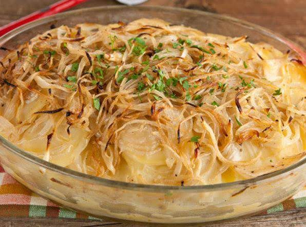 Boulangere Potatoes (french Scalloped Potatoes) Recipe