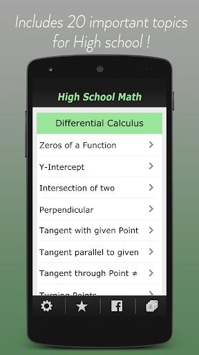 High School Math Easy