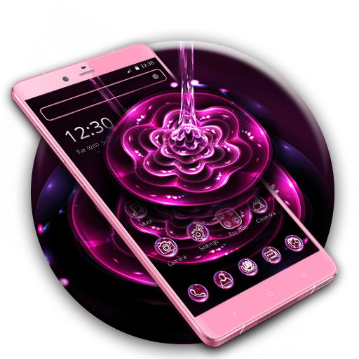 Purple Water Flower Theme