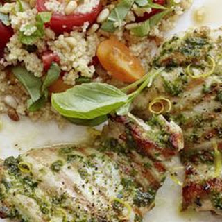 Lemon-Basil Chicken and Pine Nut Couscous