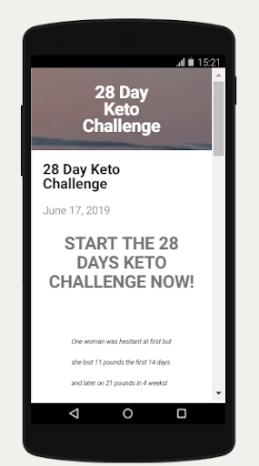 28 Days Keto Diet App Report on Mobile Action - App Store
