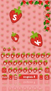 Red Strawberry Keyboard - náhled